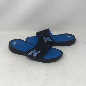 New Balance Black/Blue Men's Slides Size:10(b18b5)